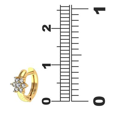 Avsar Real Gold and Swarovski Stone Patana Earrings_Ave0116yb