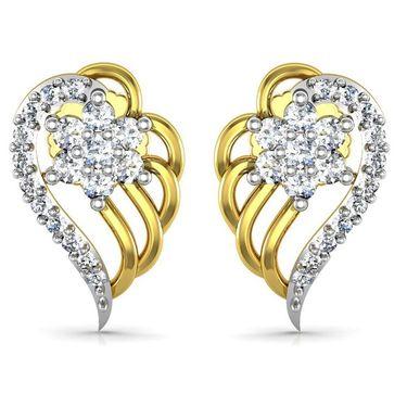 Avsar Real Gold and Swarovski Stone Rajstan Earrings_Ave0182yb