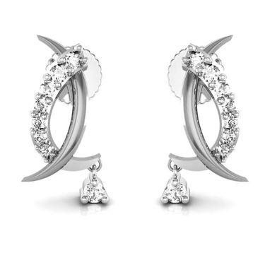 Avsar Real Gold and Swarovski Stone Rohini Earrings_Bge006wb