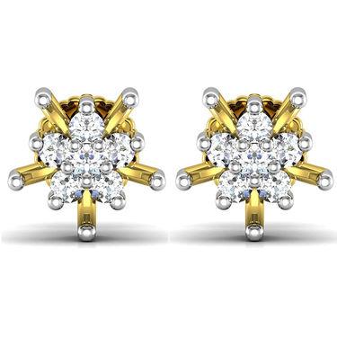 Avsar Real Gold and Swarovski Stone Mayuri Earrings_Bge00y7b