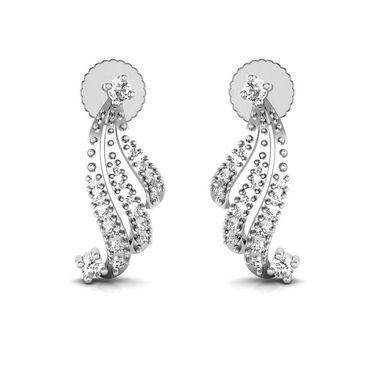 Avsar Real Gold and Swarovski Stone Jammu Earrings_Bge011wb