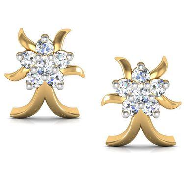 Avsar Real Gold and Swarovski Stone Janvi Earrings_Bge014yb