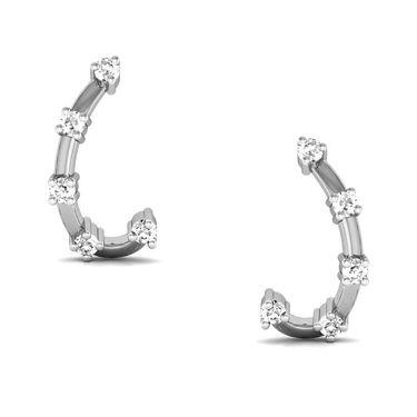 Avsar Real Gold and Swarovski Stone Rajvi Earrings_Bge020wb