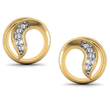 Avsar Real Gold and Swarovski Stone Geeta Earrings_Bge022yb