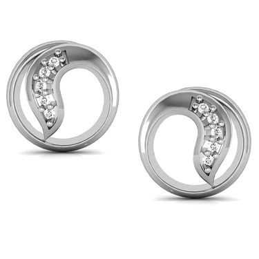 Avsar Real Gold and Swarovski Stone Sneha Earrings_Bge022wb