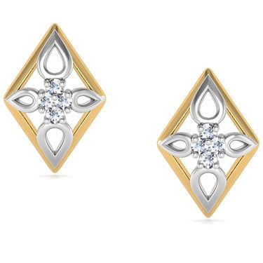 Avsar Real Gold and Swarovski Stone Aditi Earrings_Bge033yb