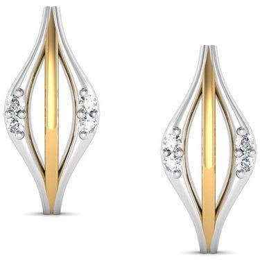 Avsar Real Gold and Swarovski Stone Aishawarya Earrings_Bge034yb