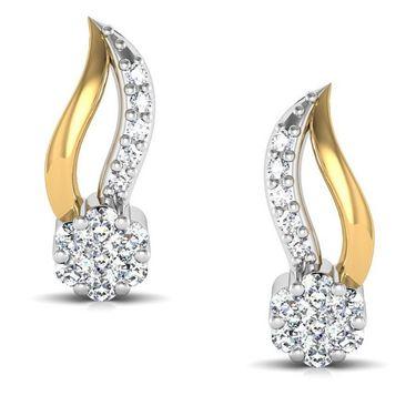 Avsar Real Gold and Swarovski Stone Pooja Earrings_Bge045yb