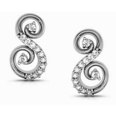 Avsar Real Gold and Swarovski Stone Kashmir Earrings_Bge050wb