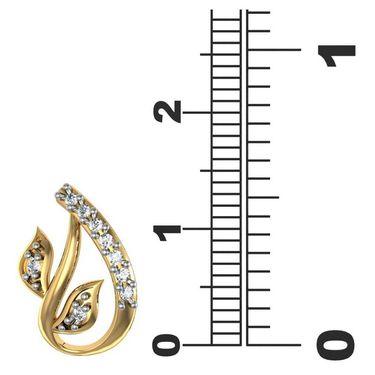 Avsar Real Gold and Swarovski Stone Neelam Earrings_Bge067yb