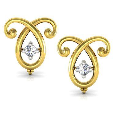 Avsar Real Gold and Swarovski Stone Vaishali Earrings_Uqe018yb