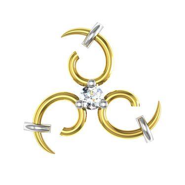 Avsar Real Gold and Swarovski Stone Nandini Earrings_Uqe019yb