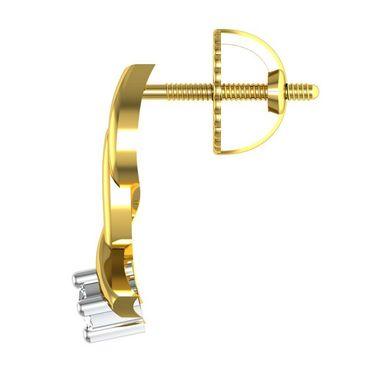 Avsar Real Gold and Swarovski Stone Pooja Earrings_Uqe022yb