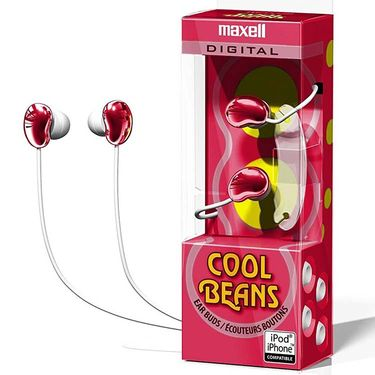 Maxell CBS Cool Beans In-Ear Earphone With Cord winder Red - Pack of 2
