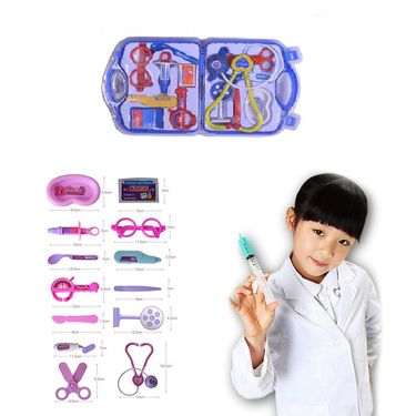 Set of 14pcs Kids Doctor Kit Playset - Multicolour