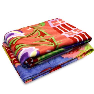 Storyathome Pack of 2 Designer Printed Double Fleece Blanket-CA1212-CA1214