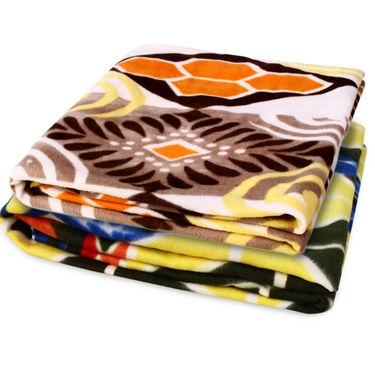 Storyathome Pack of 2 Designer Printed Double Fleece Blanket-CA1209-CA1211