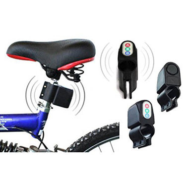 Gadget Hero's Bicycle Motor Bike Anti Theft Security Alarm 110dB Loud Sound Vibration Alert Password Protected, Weather Resistant, Battery Included