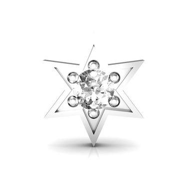 AG Real Diamond Amruta Nose Pin_Agsno030w - White