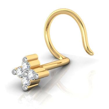 Avsar Real Gold & Swarovski Stone Kanyakumari Nose Pin_Av04yb