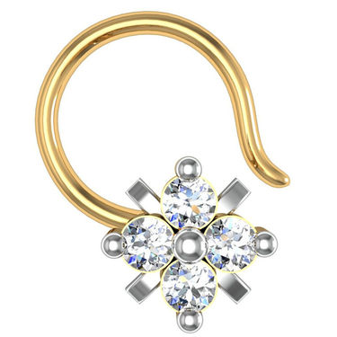Avsar Real Gold & Swarovski Stone Tamilnadu Nose Pin_Av09yb