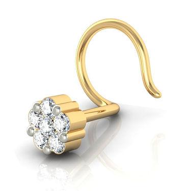 Avsar Real Gold & Swarovski Stone Patana Nose Pin_Av01yb