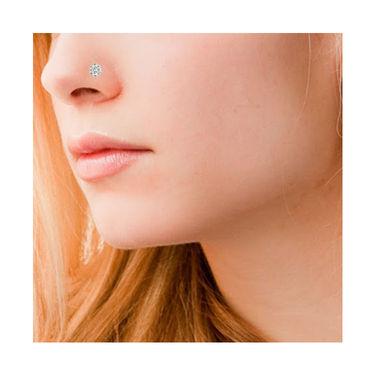 Avsar Real Gold & Swarovski Stone Rohini Nose Pin_Av06yb