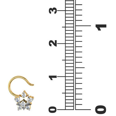Avsar Real Gold & Swarovski Stone Pournima Nose Pin_Av15yb