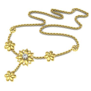 Avsar Real Gold & Swarovski Stone Namrata Necklace_Nl14yb