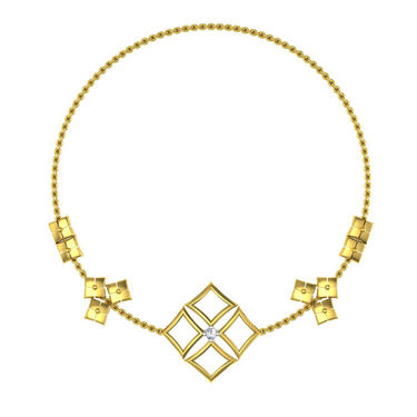 Avsar Real Gold & Swarovski Stone Vashi Necklace_Nl18yb