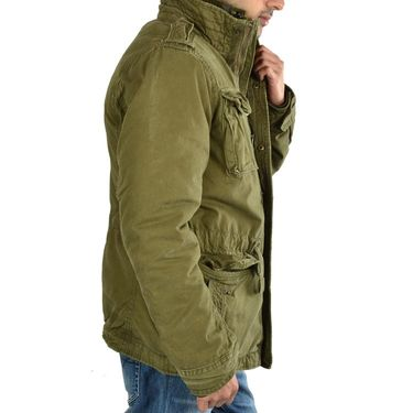 Branded Quilted Jacket_Os10 - Mehandi
