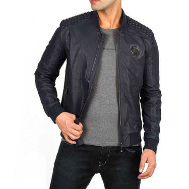 Buy Branded Faux Leather Leather Jacket Os17 Online At
