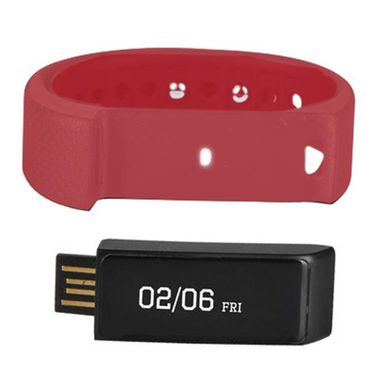 Smart Touch Screen Water Resistant Fitness Band  - Red
