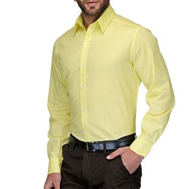 Full Sleeves Cotton Shirt_yelwsht - Yellow