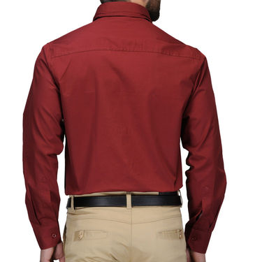Full Sleeves Cotton Shirt_mrnsht - Maroon