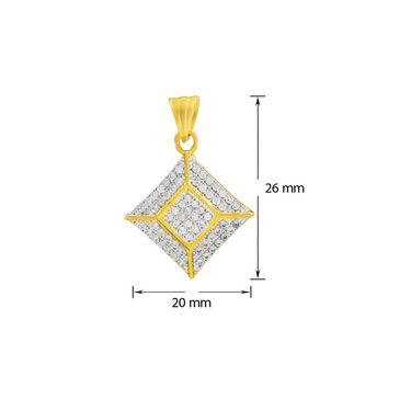 Mahi Gold Plated CZ Pendant Set_Nl1100139g