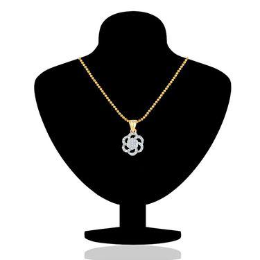 Mahi Gold Plated CZ Pendant Set_Nl1103548g
