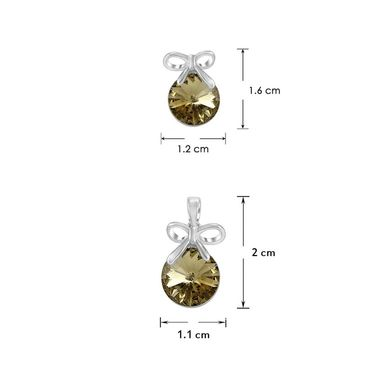 Mahi Rhodium Plated Swarovski Elements Pendant Set_Nl1104080rbro