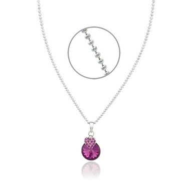 Mahi Rhodium Plated Swarovski Elements Pendant Set_Nl1104089rpur