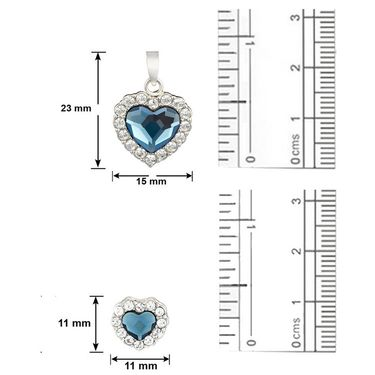 Mahi Rhodium Plated Swarovski Elements Pendant Set_Nl1104119rblu