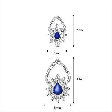 Mahi Rhodium Plated Swarovski Zirconia Pendant Set_Nl3101006sblu