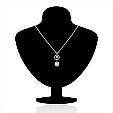 Mahi Rhodium Plated Swarovski Zirconia Pendant Set_Nl3101017c