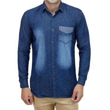 Stylox Full Sleeves Slim Fit Shirt_Mb202 - Blue