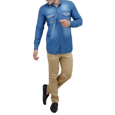 Stylox Full Sleeves Slim Fit Shirt_Sb204 - Sky Blue
