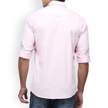 Crosscreek Full Sleeves Cotton Casual Shirt_1180302F - Pink