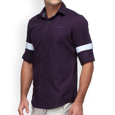 Crosscreek Full Sleeves Cotton Casual Shirt_1180308F - Dark Purple