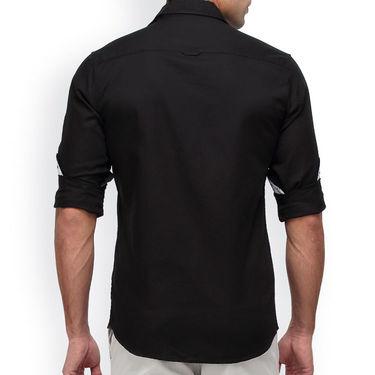 Crosscreek Full Sleeves Cotton Casual Shirt_1180310F - Black