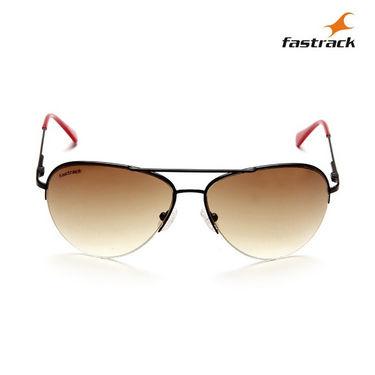 Fastrack 100% UV Protection Sunglasses For Men_M102br1 - Brown