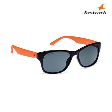Fastrack 100% UV Protection Sunglasses For Men_Pc001bk4 - Black & Orange