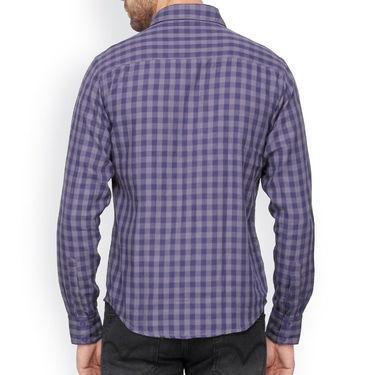 Crosscreek Cotton Casual Shirt_1230303 - Grey & Blue